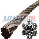 6 x 37 IWRC Ungalv Steel Wire Rope