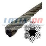 6×19 Fiber Core – Ungalvanised Steel Wirerope Size