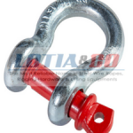 Galvanised Bow Shackle With Red Pin